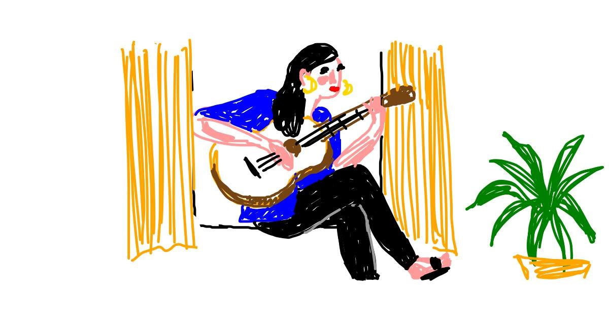 Guitar drawing by alison