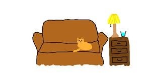 Drawing of Couch by Gel