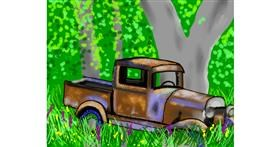 Truck drawing by Cec