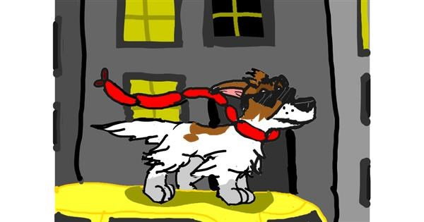 Dog drawing by Firebrace101