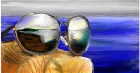 Drawing of Sunglasses by Soaring Sunshine