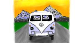 Drawing of Bus by Sara