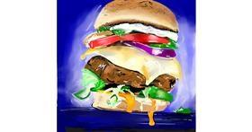 Burger drawing by Rose rocket