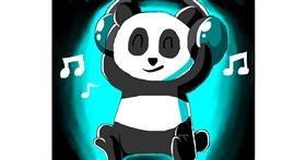 Panda drawing by Freny