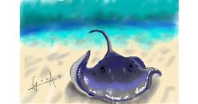 Drawing of Stingray by Bibattole