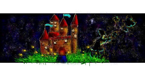 Castle drawing by Rei