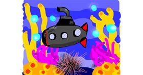 Submarine drawing by Lori