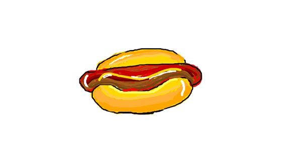 Hotdog drawing by barbiana