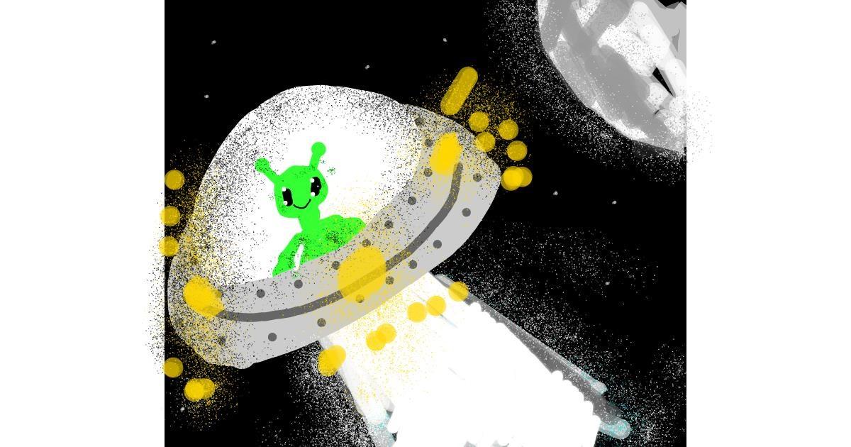 Alien drawing by Data