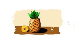 Pineapple drawing by ARTnas aira