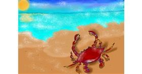 Crab drawing by Debidolittle