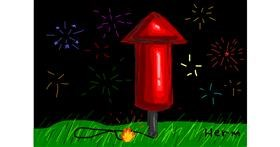 Fireworks drawing by Bigoldmanwithglasses
