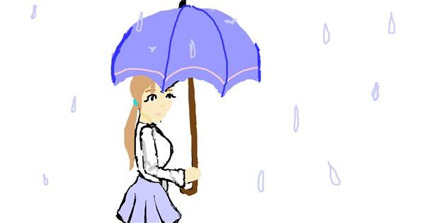 Umbrella drawing by Athena