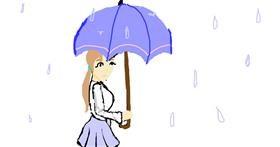 Umbrella drawing by Athena