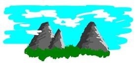Drawing of Mountain by Kaiga