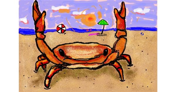 Crab drawing by ❀𝓜𝓪𝓻𝓲❀