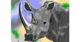 Rhino drawing by SAM AKA MARGARET 🙄
