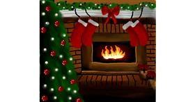 Fireplace drawing by Joze