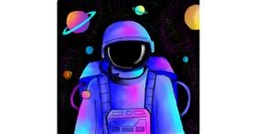 Drawing of Astronaut by Bishakha