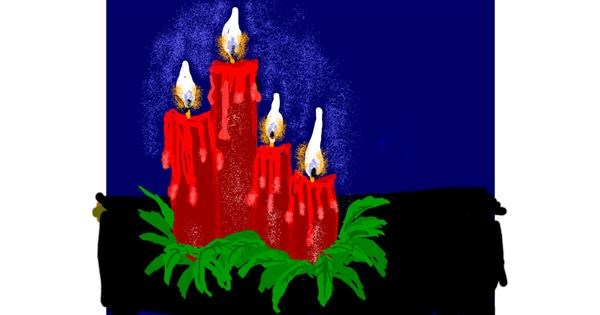 Candle drawing by Cherri