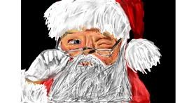 Santa Claus drawing by Soaring Sunshine