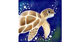 Tortoise drawing by Manali