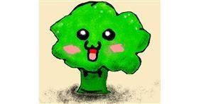 Broccoli drawing by BANANANANA
