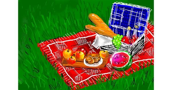 Picnic drawing by Kalina