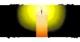 Drawing of Candle by Melody