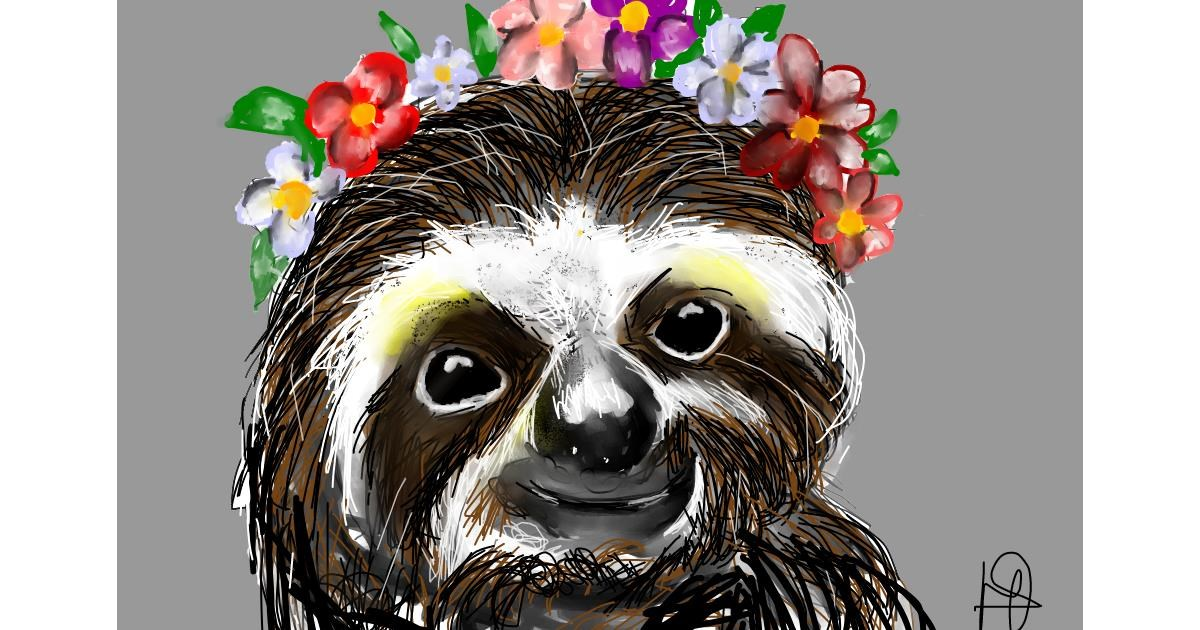 Drawing of Sloth by (luna lovegood)