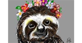 Sloth drawing by (luna lovegood)