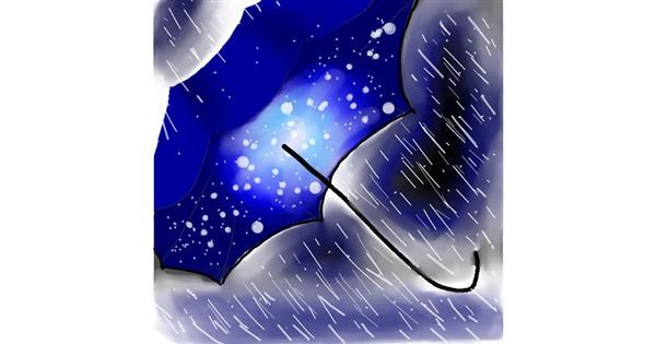 Umbrella drawing by Clinton