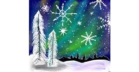 Snowflake drawing by Dream