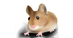 Mouse drawing by Emit