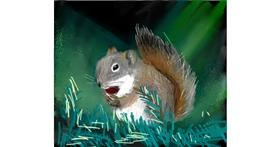 Squirrel drawing by Muni
