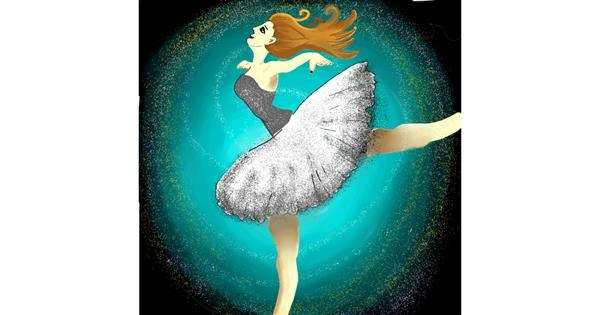 Ballerina drawing by Namie