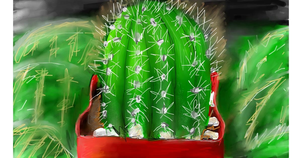 Cactus drawing by Soaring Sunshine