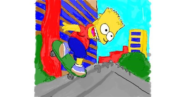 Bart Simpson drawing by Mercy
