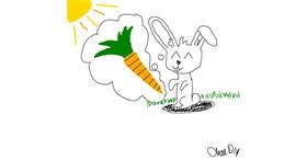 Carrot drawing by Kit
