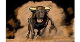 Drawing of Bull by SAM AKA MARGARET 🙄