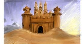 Drawing of Sand castle by Soaring Sunshine
