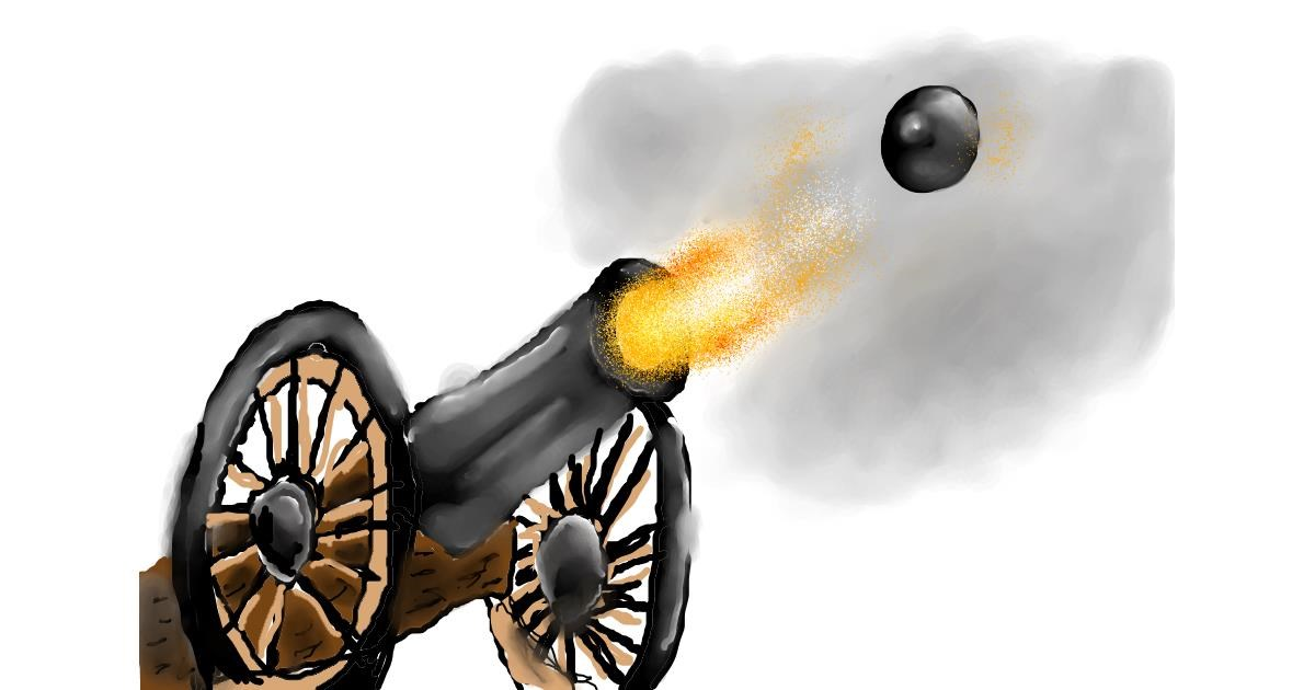 Cannon drawing by Icefrost