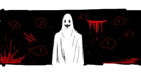 Ghost drawing by PTLS