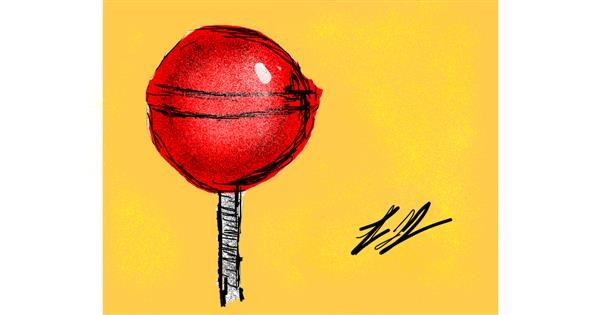 Lollipop drawing by Lori