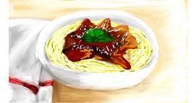 Drawing of Spaghetti by Soaring Sunshine