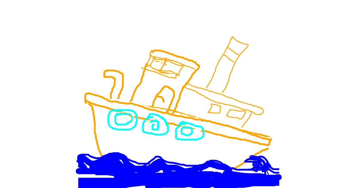 Boat drawing by tomo