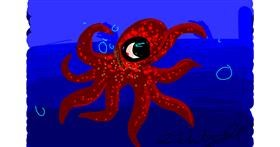 Octopus drawing by CinnamonTrin