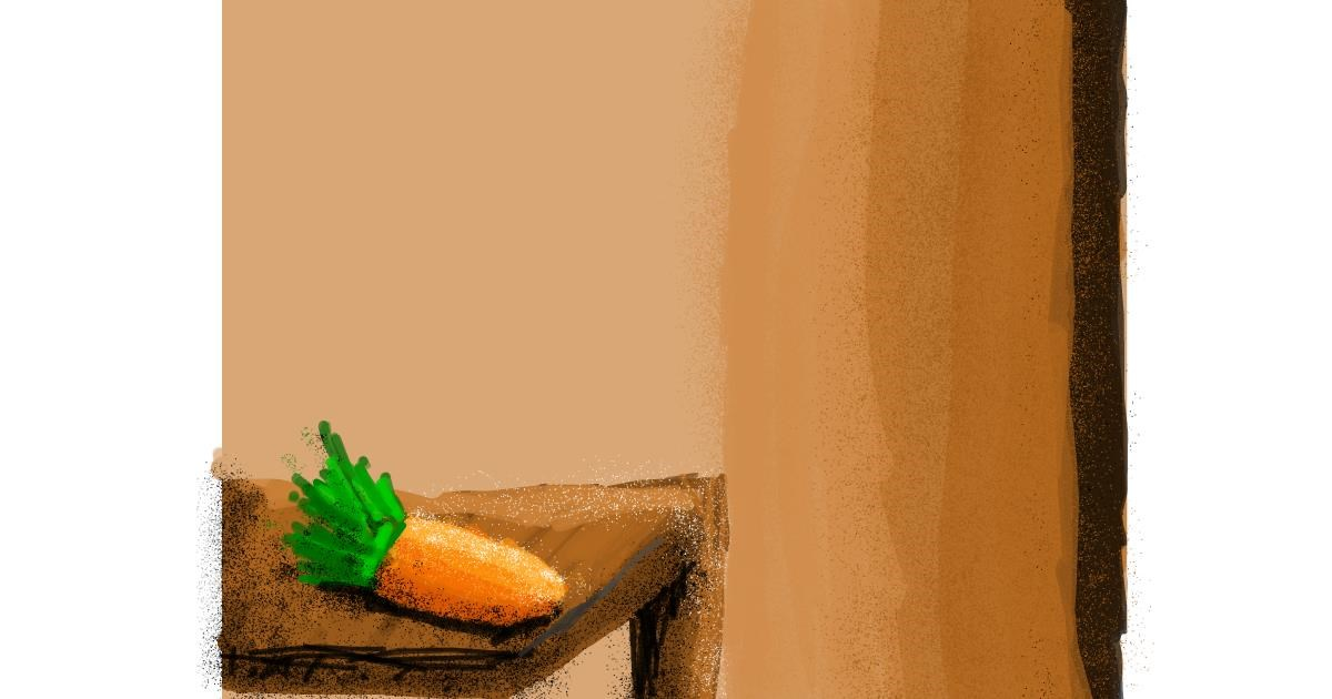 Carrot drawing by Data