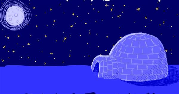 Igloo drawing by Corincat