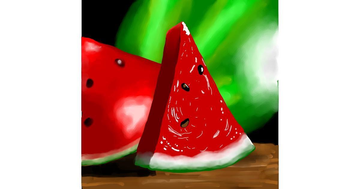 Watermelon drawing by Joze